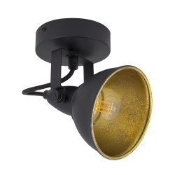 Wall Sconce Adjustable Emer 1 Spot Black