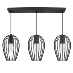Hanging Lamp Telmi 3 Spots Black
