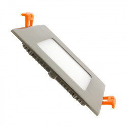Slab LED Square Extra Flat LED 6W Silver Frame