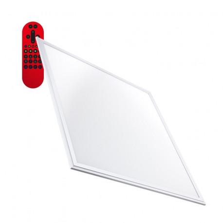 Panneau LED Dimmable Tª Couleur Sélectionnable 60x60cm 40W RGB 3600lm