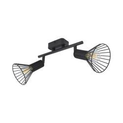 Lampe de Plafond Orientable Royal 2 Spots Noir