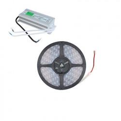 Kit Ruban LED 70W 120LED/m 5m IP67 avec Bloc d'Alimentation Étanche IP67
