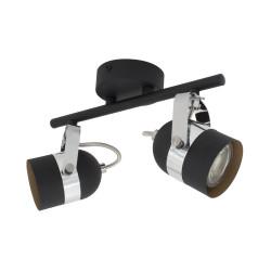 Ceiling lamp Adjustable Sinner 2 Spots Black