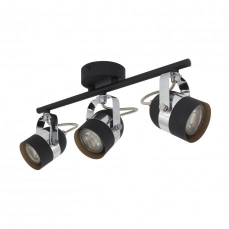 Ceiling lamp Adjustable Sinner 3 Spots Black