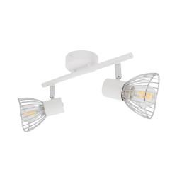 Lampe de Plafond Orientable Saban 2 Spots Blanc