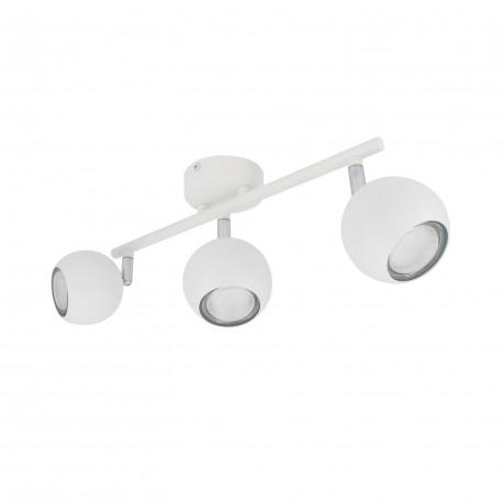 Lampe de Plafond Orientable Ates 3 Spots Blanc