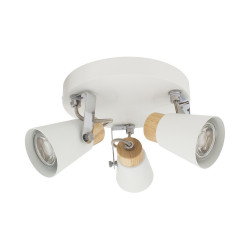 Ceiling lamp Round Adjustable Mara 3 Spots, White