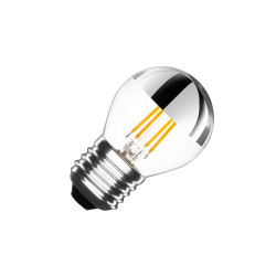 Ampoule LED E27 Dimmable Chrome Reflect Small Classic G45 3.5W