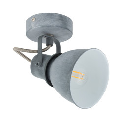 Wall Sconce Adjustable Emery 1 Spot Grey
