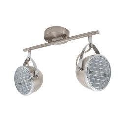 Ceiling lamp Adjustable Izga 2 Spots Silver