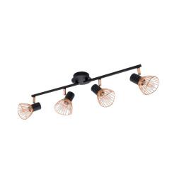 Lampe de Plafond Orientable Saban 4 Spots Cuivré