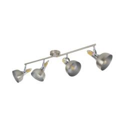 Lampe de Plafond Orientable Emer 4 Spots Argenté