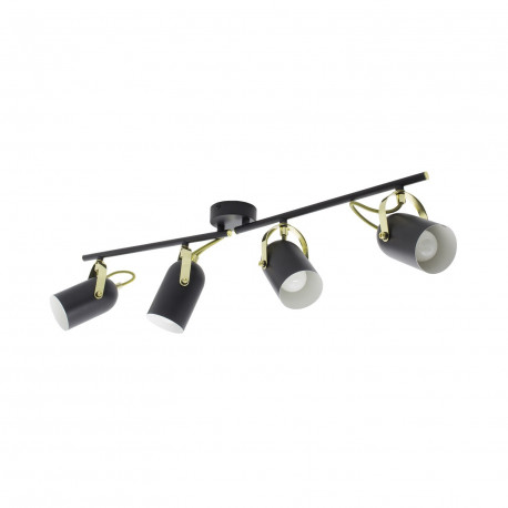 Ceiling lamp Adjustable Cano 4 Spots Black