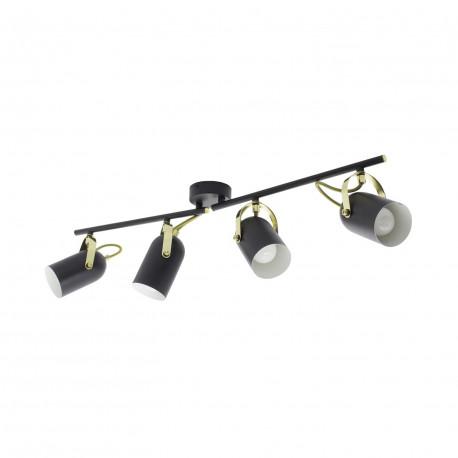 Lampe de Plafond Orientable Cano 4 Spots Noir
