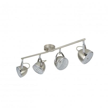 Lampe de Plafond Orientable Izga 4 Spots Noir
