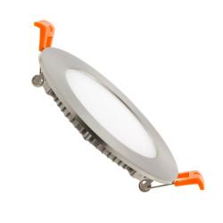 Slab Round LED Extra Flat 6W Silver Frame