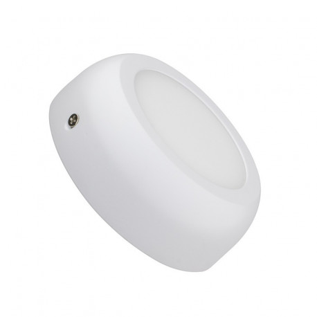 White Round Design 6W LED Surface Panel