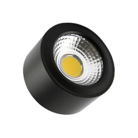 Round Black Style 7W COB LED Surface Panel