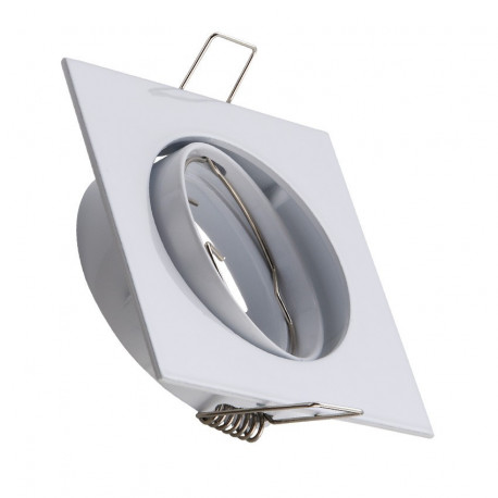 Support Spot Carré Orientable for light Bulb GU10/GU5.3