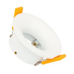 Collerette Ronde Downlight Lumière indirecte Blanche pour Ampoule LED GU10 / GU5