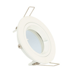 Collerette Ronde Downlight Blanche pour Ampoule LED GU10 / GU5.3