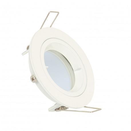 Frill Round Downlight in White for LED Bulb GU10 / GU5.3
