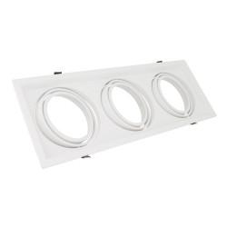 Support Spot Carré Orientable pour 3 Ampoules LED AR111