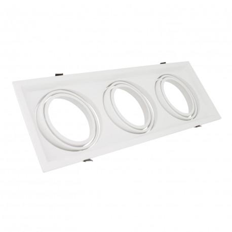 Support Spot Carré Orientable 3 LED Bulbs AR111