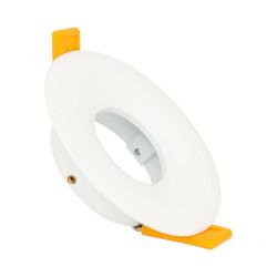 Collerette Ronde Downlight Design Blanche pour Ampoule LED GU10 / GU5.3