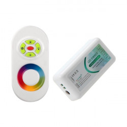Touch controller RGB LED 12/24V, Dimmable with RF Remote control