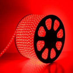 Bobine de LED 220V AC Dimmable 60 LED/m Rouge (50 Mètres) IP65 Coupe Tous les 100cm