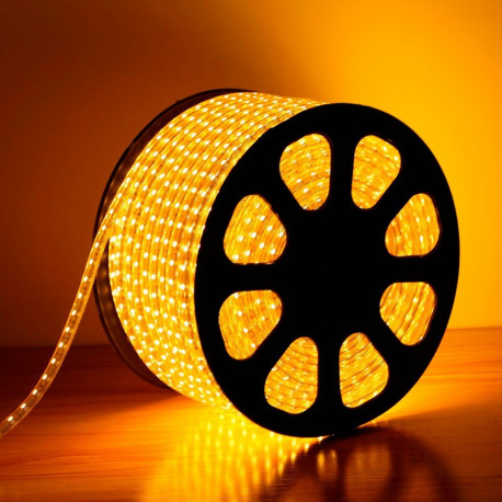 Bobine de LED 220V AC SMD5050 60 LED/m Jaune (50 Mètres)