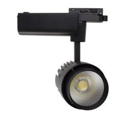 Led Spot Dora 30W Black-to-Rail single-Phase