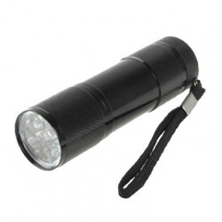 Flashlight 9 LEDS Black