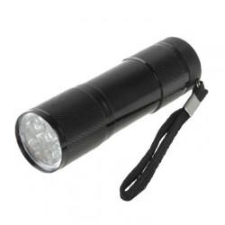 Lampe de Poche 9 LED Noire