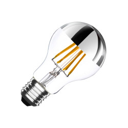 E27 LED bulb Dimmable Filament Chrome Reflect Classic A60 6W