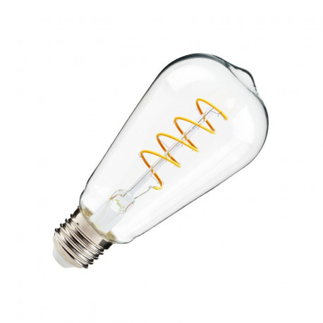 E27 LED bulb Dimmable Filament Spiral Big Lemmon ST64 4W