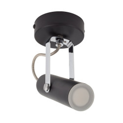 Adjustable 4W Bari LED Surface Spotlight in Black (x1)