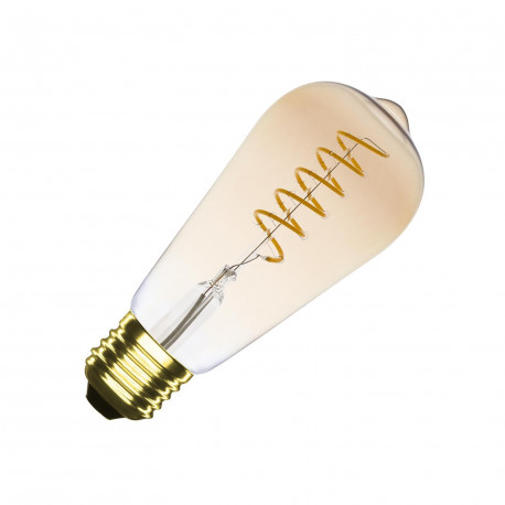 E27 LED bulb Dimmable Filament Spiral Gold Big Lemmon ST64 4W
