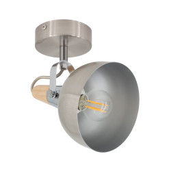 Wall Sconce Adjustable Emer 1 Spot Silver