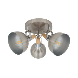 Ceiling lamp Round Adjustable Emer 3 Spots Silver