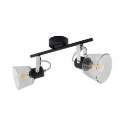 Ceiling lamp Adjustable Tivo 2 Spots Black