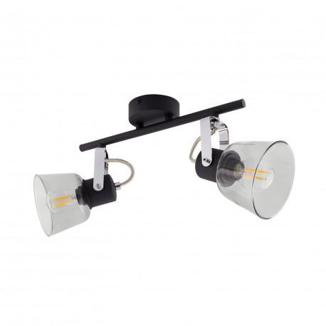 Lampe de Plafond Orientable Tivo 2 Spots Noir