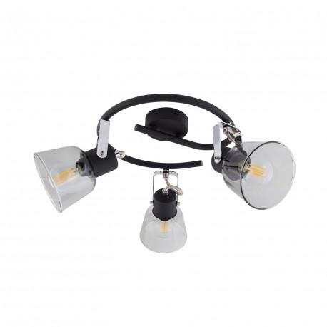 Lampe de Plafond Spirale Orientable Tivo 3 Spots Noir