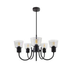 Hanging Lamp Design Tivo 5 Spots Black