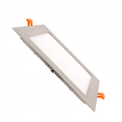 Slab LED Square Extra Flat LED 18W Silver Frame