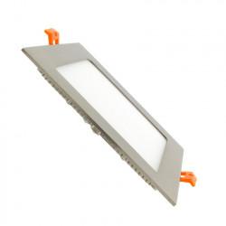 Slab LED Square Extra-Flat LED 12W Silver Frame
