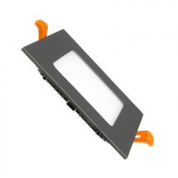 Slab LED Square Extra Flat LED 6W Black Frame