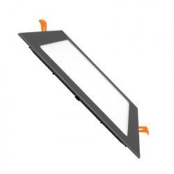 Slab LED Square Extra Flat LED 18W Black Frame