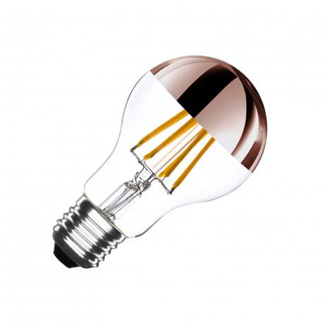 Ampoule LED E27 Dimmable Filament Copper Reflect A60 6W